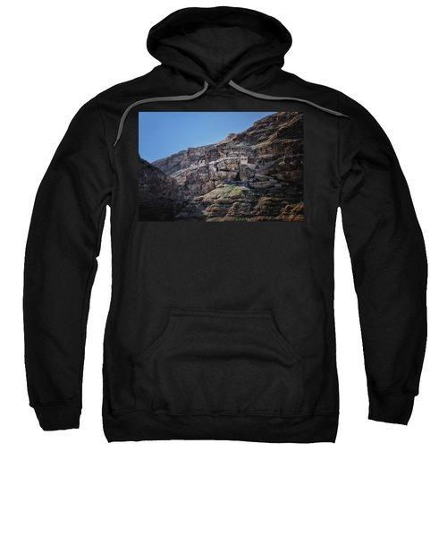 Mount Of The Temptation Monastery Jericho Israel Sweatshirt