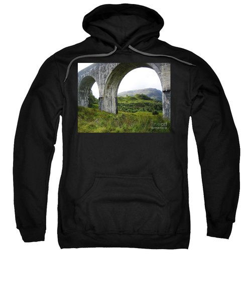 Sweatshirt featuring the photograph Mountains Through The Viaduct by Denise Railey