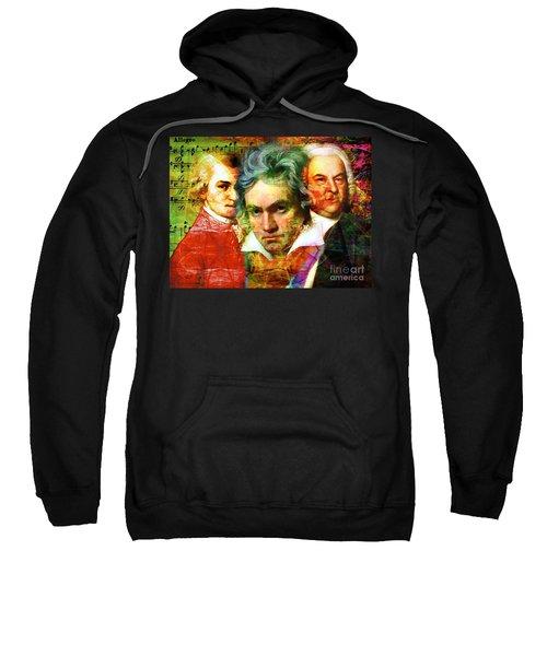 Mozart Beethoven Bach 20140128 Sweatshirt
