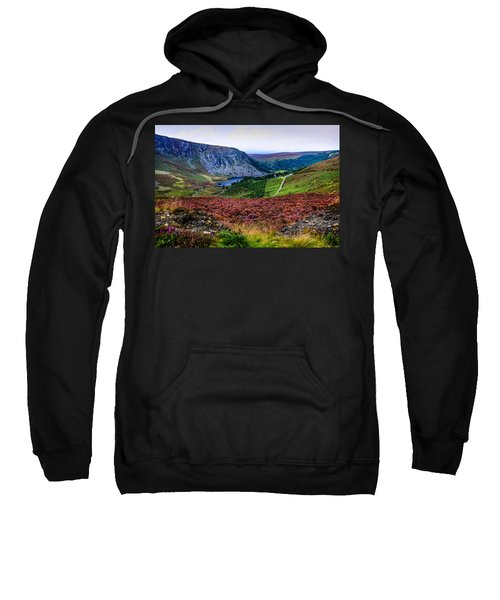 Multicolored Carpet Of Wicklow Hills. Ireland Sweatshirt