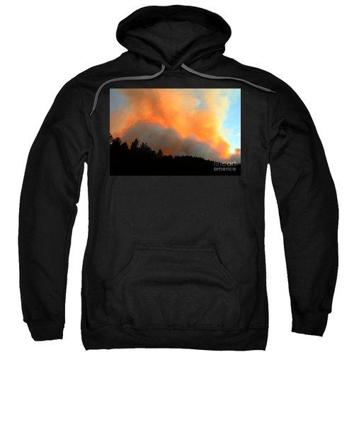 Myrtle Fire Near Rifle Pit Road Sweatshirt