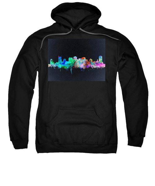 Nashville Skyline Watercolor 10 Sweatshirt