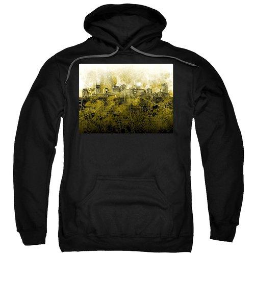 Nashville Skyline Watercolor 4 Sweatshirt