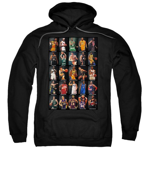 Nba Legends Sweatshirt by Taylan Apukovska