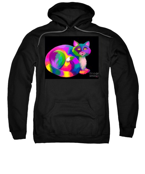 Neon Bright Cat Sweatshirt
