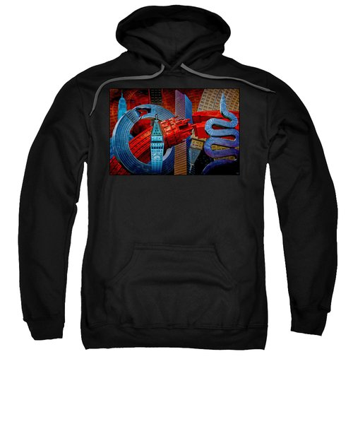 New York City Park Avenue Sculptures Reimagined Sweatshirt