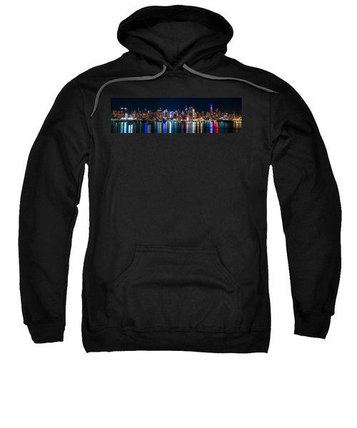 New York Panorama By Night Sweatshirt