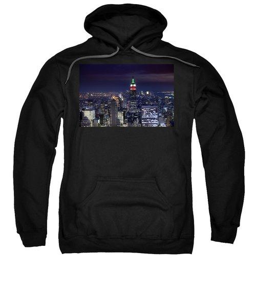 New York Skyline Night Color Sweatshirt