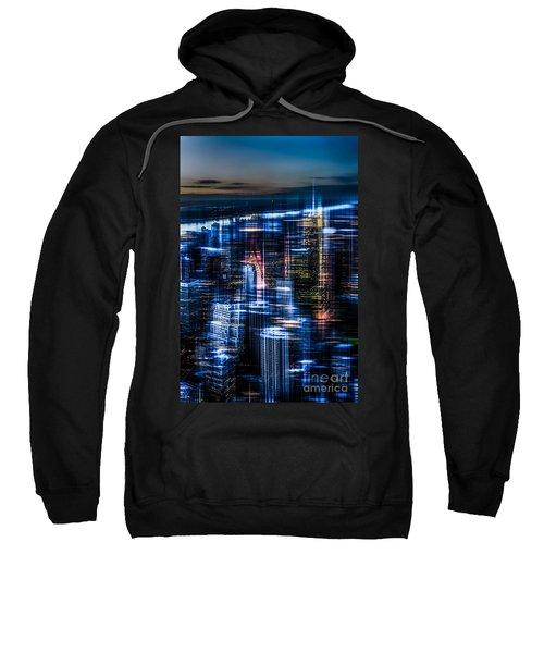 New York - The Night Awakes - Blue I Sweatshirt