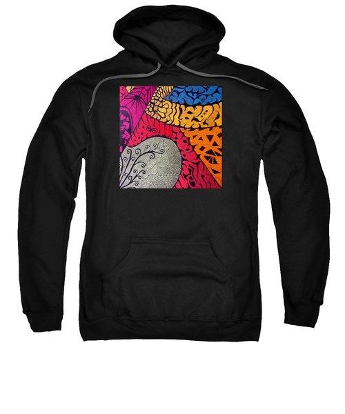 Nice Colors In A Doodling Designs I Sweatshirt