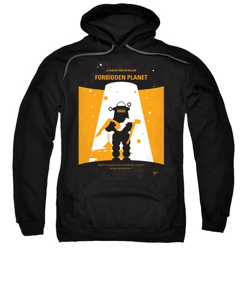 No415 My Forbidden Planet Minimal Movie Poster Sweatshirt