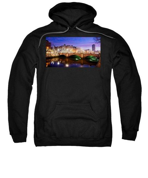 O Connell Bridge At Night - Dublin Sweatshirt