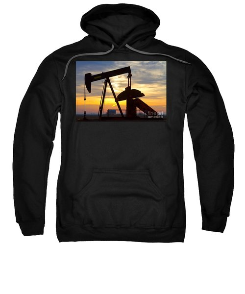 Oil Pump Sunrise Sweatshirt by James BO  Insogna