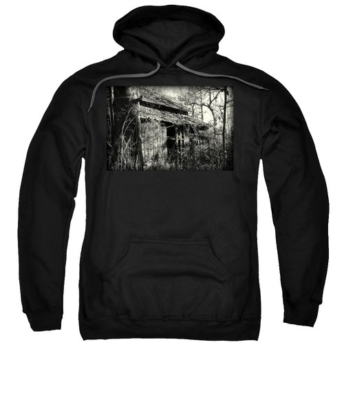 Old Barn In Black And White Sweatshirt