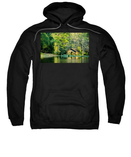 Old Cabin By The Pond Sweatshirt