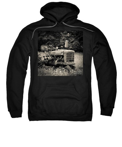 Old Tractor Black And White Square Sweatshirt