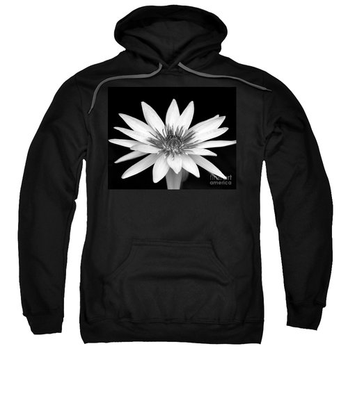 One Black And White Water Lily Sweatshirt