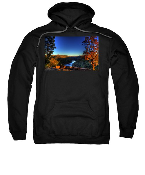 Sweatshirt featuring the photograph Overlook In The Fall by Jonny D