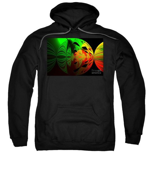 Art. Unigue Design.  Abstract Green Red And Black Sweatshirt