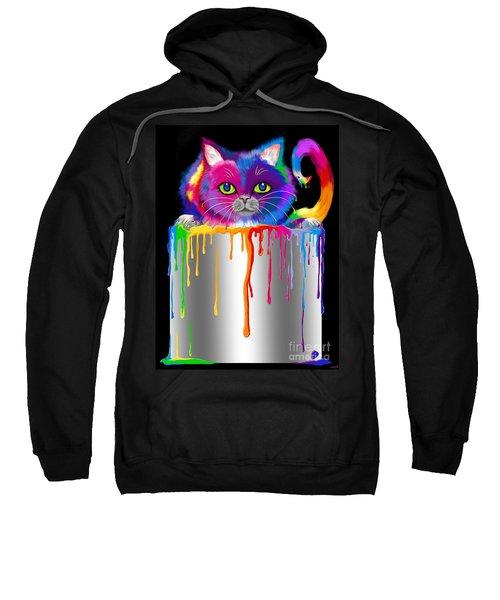 Paint Can Cat Sweatshirt