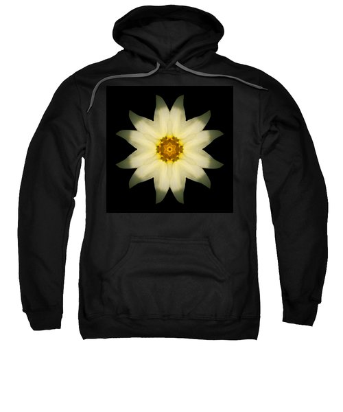 Pale Yellow Daffodil Flower Mandala Sweatshirt