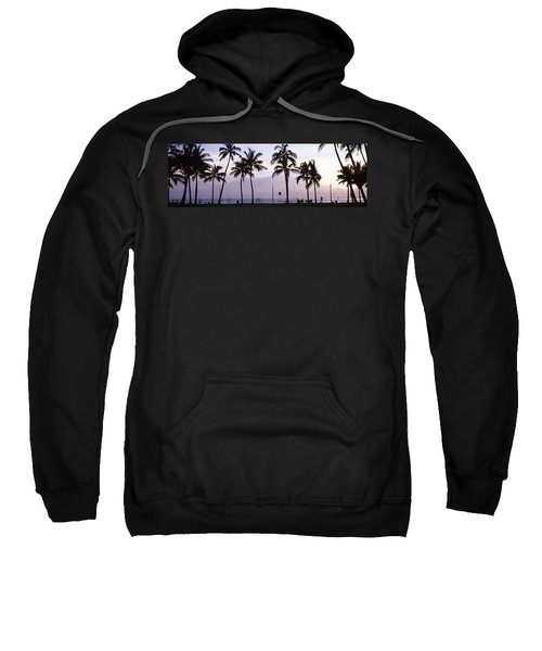 Palm Trees On The Beach, Waikiki Sweatshirt