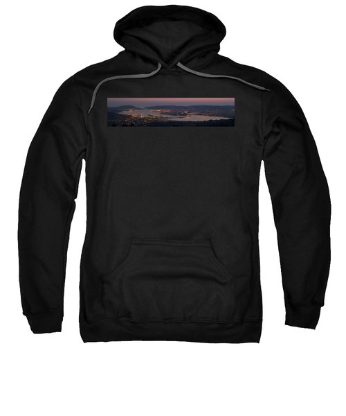 Panorama Of Ferrol From Mount Marraxon Galicia Spain Sweatshirt