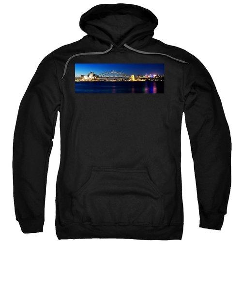 Panoramic Photo Of Sydney Night Scenery Sweatshirt