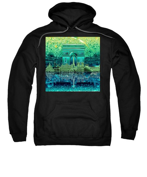 Paris Skyline Landmarks 6 Sweatshirt