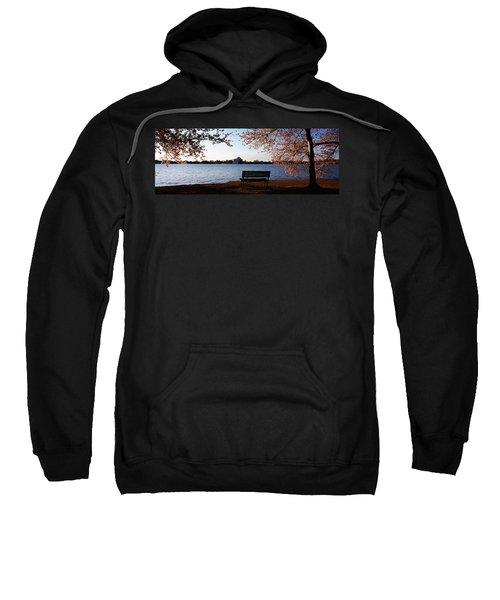 Park Bench With A Memorial Sweatshirt by Panoramic Images