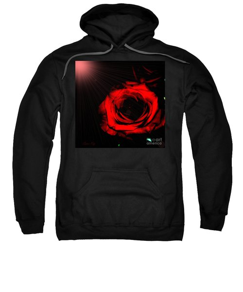 Passion. Red Rose Sweatshirt
