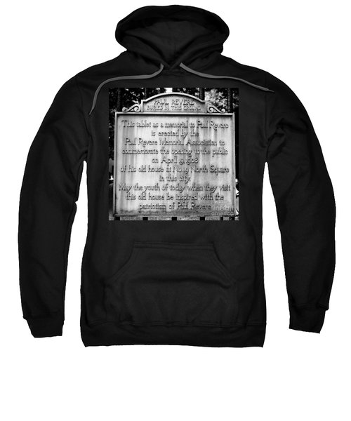 Paul Revere Burial Plaque Boston Massachusetts Sweatshirt
