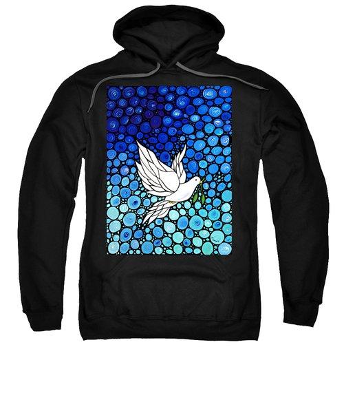 Peaceful Journey - White Dove Peace Art Sweatshirt