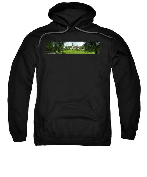 Peles Castle In The Carpathian Sweatshirt by Panoramic Images