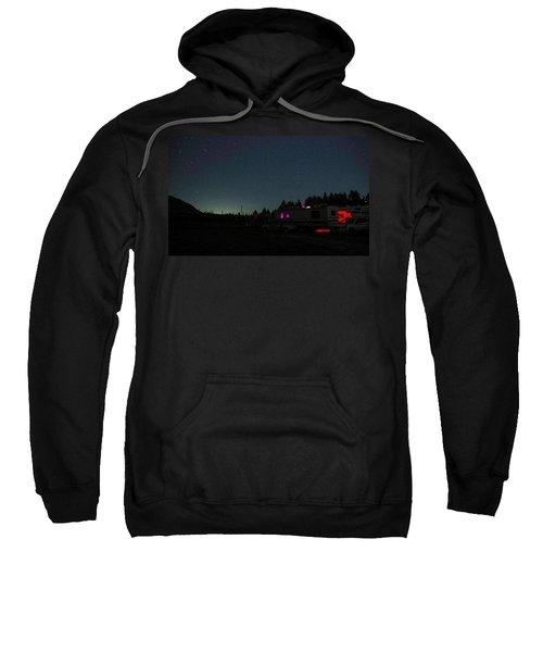 Perseid Meteor-julian Night Lights Sweatshirt