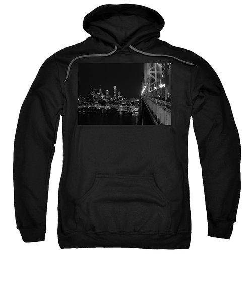Philadelphia Night B/w Sweatshirt
