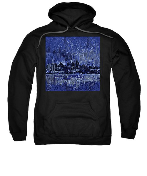 Philadelphia Skyline Abstract 2 Sweatshirt