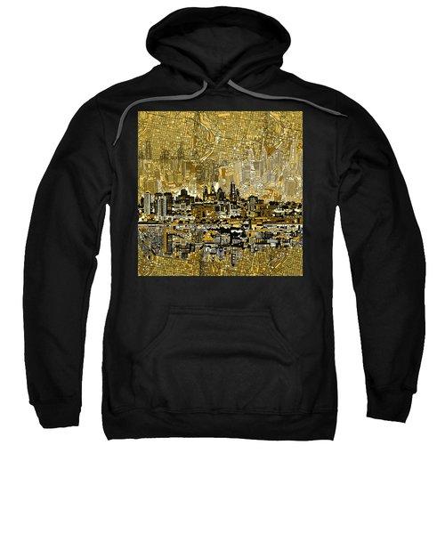 Philadelphia Skyline Abstract 3 Sweatshirt