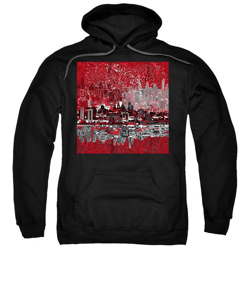 Philadelphia Skyline Abstract 4 Sweatshirt