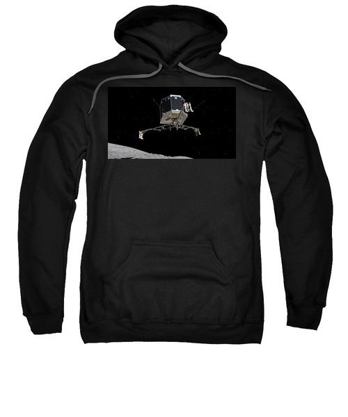 Philae Lander Descending To Comet 67pc-g Sweatshirt