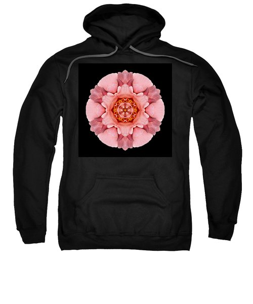 Pink And Orange Rose Iv Flower Mandala Sweatshirt