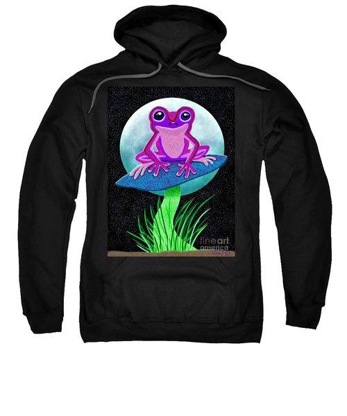 Pink Frog And Blue Moon Sweatshirt