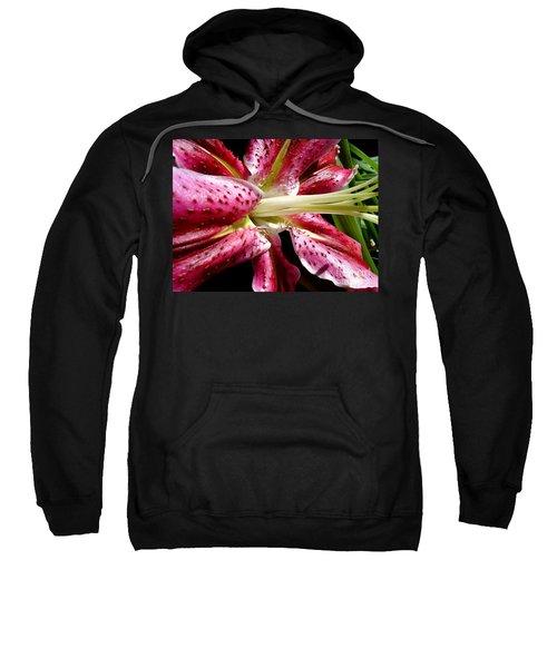 Pink Lily Macro Sweatshirt