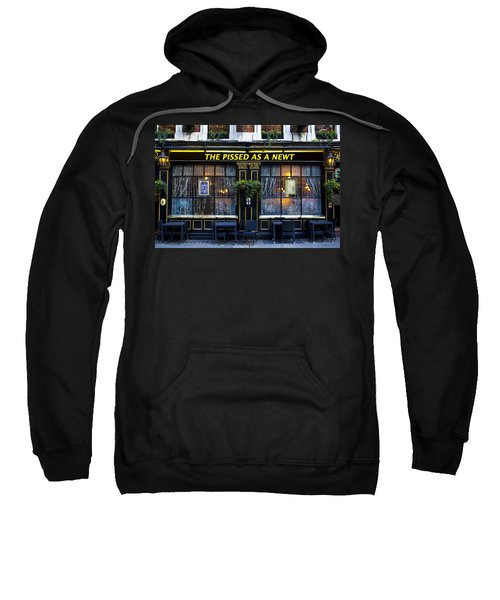 Pissed As A Newt Pub  Sweatshirt by David Pyatt