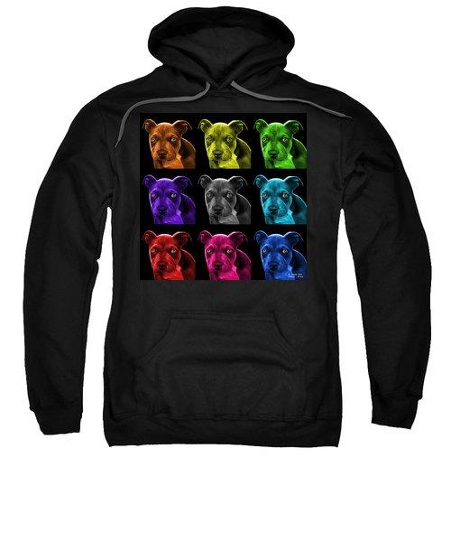 Pitbull Puppy Pop Art - 7085 Bb - M Sweatshirt