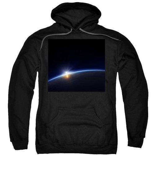 Planet Earth With Rising Sun Sweatshirt
