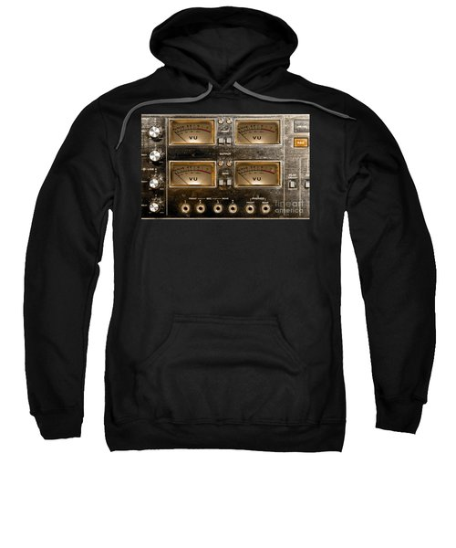 Playback Recording Vu Meters Grunge Sweatshirt