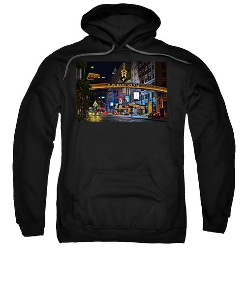 Playhouse Square Sweatshirt by Frozen in Time Fine Art Photography