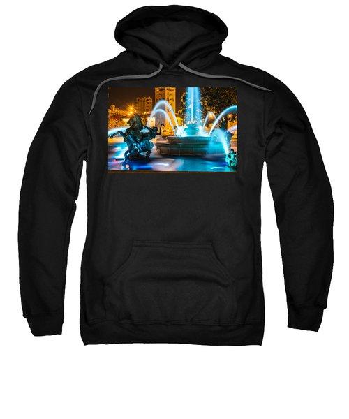Plaza Blue Fountain Sweatshirt