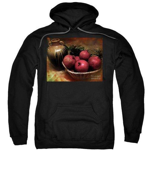 Pomegranate Basket And Clay Jar Sweatshirt